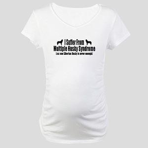 Siberian Husky Maternity T-Shirt