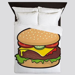 Cheeseburger Queen Duvet