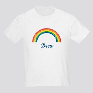 Drew vintage rainbow Kids Light T-Shirt