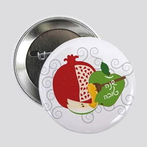 "Shana Tova Holiday Design 2.25"" Button"