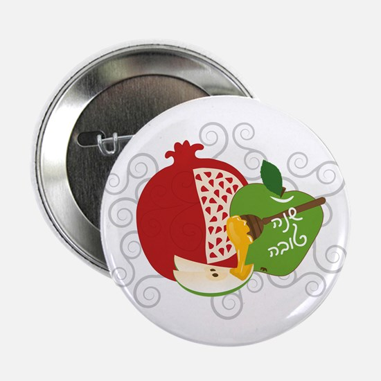"Shana Tova Holiday Design 2.25"" Button"