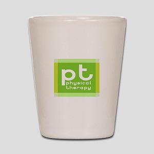 3-PT-curvyfont-dark2 Shot Glass