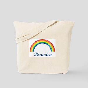 Branden vintage rainbow Tote Bag