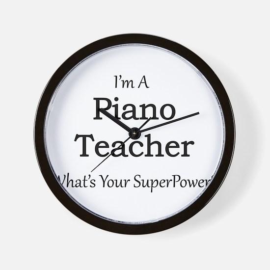 Piano Teacher Wall Clock
