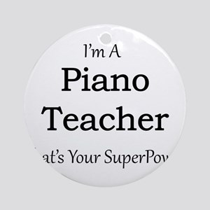 Piano Teacher Round Ornament