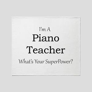 Piano Teacher Throw Blanket