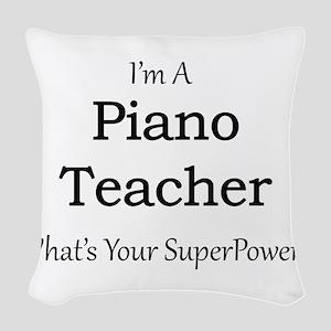 Piano Teacher Woven Throw Pillow
