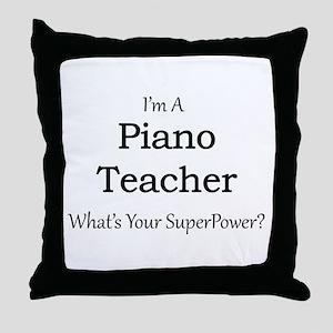 Piano Teacher Throw Pillow