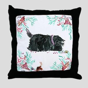 Seashore Scottie Island Dog Throw Pillow