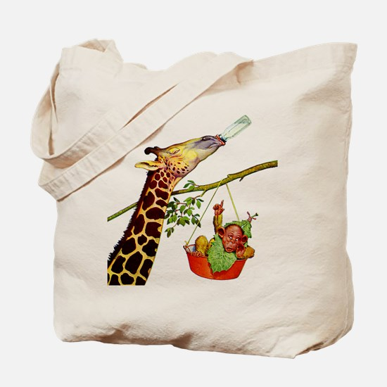 GIRAFFE & BABY Tote Bag