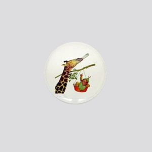 GIRAFFE & BABY Mini Button