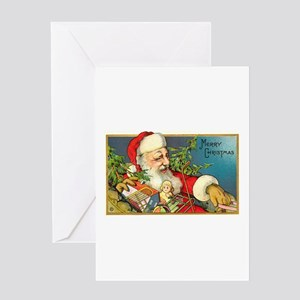 Christmas - Santa Delivering Toys Greeting Card
