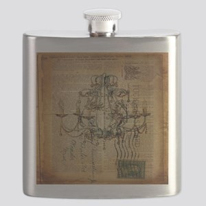 french scripts vintage chandelier Flask