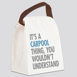 Carpool Thing Canvas Lunch Bag