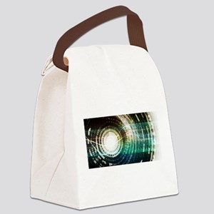 Futuristic Technol Canvas Lunch Bag