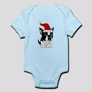 Boston Terrier Dog Christmas Body Suit