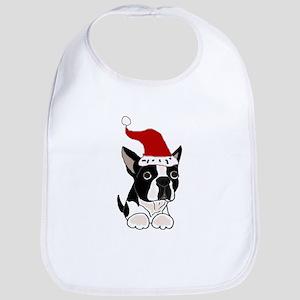 Boston Terrier Dog Christmas Bib