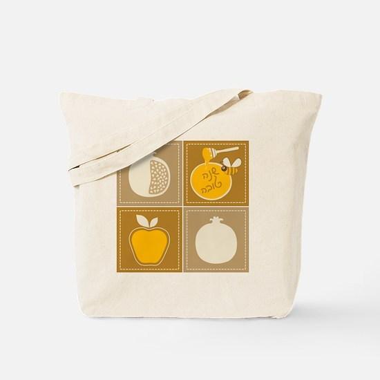 Shanah Tovah Rosh Jewish New Year Tote Bag