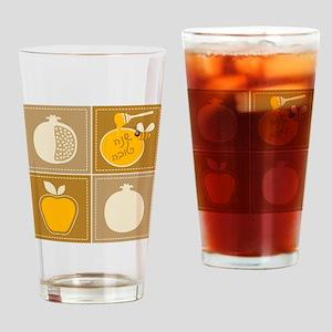 Shanah Tovah Rosh Jewish New Year Drinking Glass