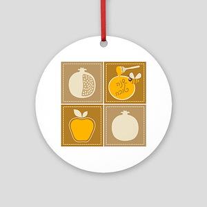 Shanah Tovah Rosh Jewish New Year Round Ornament