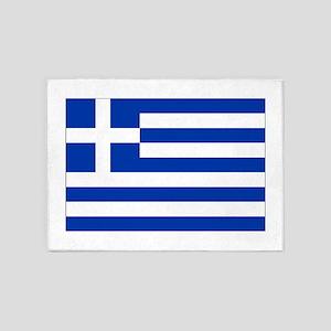 Greece Flag 5'x7'Area Rug