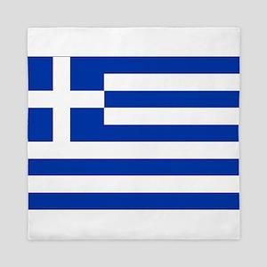 Greece Flag Queen Duvet
