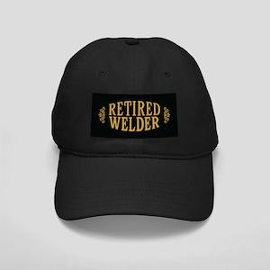 Retired Welder Black Cap