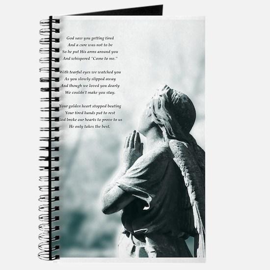 irish angel statue sympathy prayer Journal