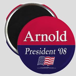 """""""Arnold for President"""" Magnet"""