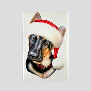 GSD Santa Pup Rectangle Magnet