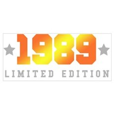 Limited Edition 1989 Birthday Shirt Poster
