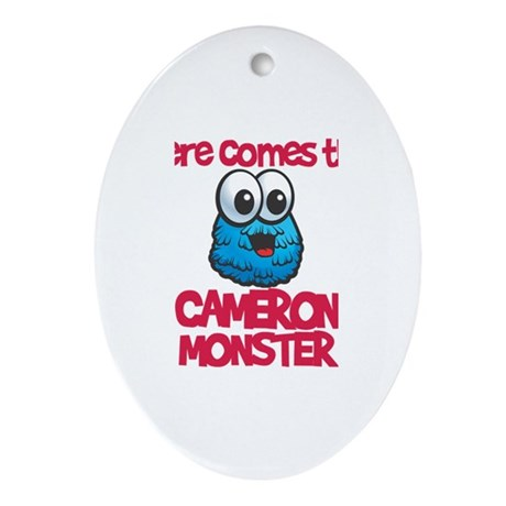 Cameron Monster Oval Ornament