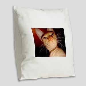 sphynx Burlap Throw Pillow