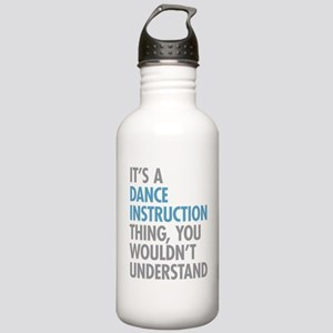 Dance Instruction Thin Stainless Water Bottle 1.0L