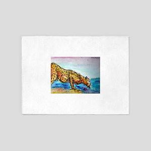 Cheetah! Wildlife art! 5'x7'Area Rug