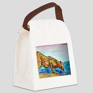 Cheetah! Wildlife art! Canvas Lunch Bag