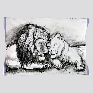 Lions! Wildlife art! Pillow Case