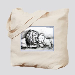 Lions! Wildlife art! Tote Bag