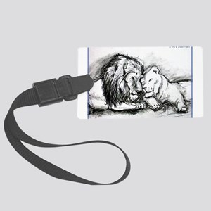 Lions! Wildlife art! Luggage Tag