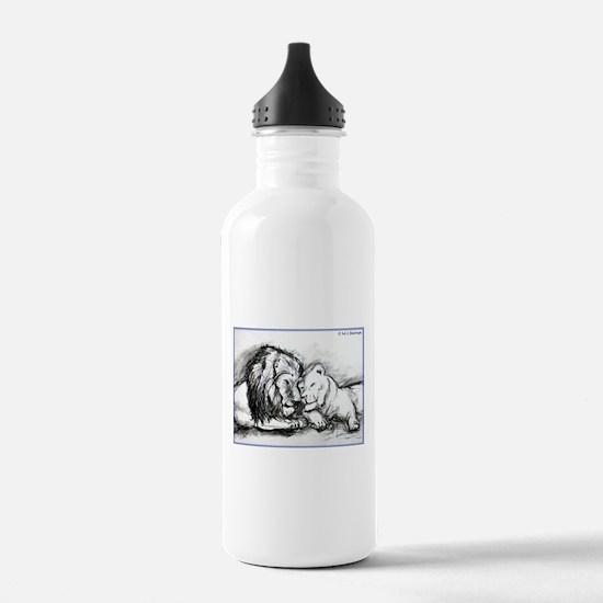 Lions! Wildlife art! Water Bottle