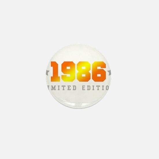 Limited Edition 1986 Birthday Shirt Mini Button