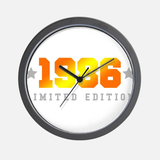 Limited Edition 1986 Birthday Shirt Wall Clock