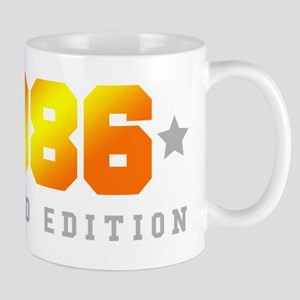 Limited Edition 1986 Birthday Shirt Mugs