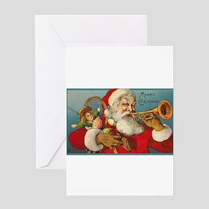 Merry Christmas Santa - Horn Playing Santa Greetin
