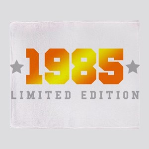 Limited Edition 1985 Birthday Shirt Throw Blanket