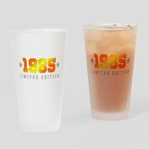 Limited Edition 1985 Birthday Shirt Drinking Glass