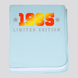 Limited Edition 1985 Birthday Shirt baby blanket