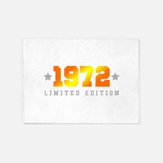 Limited Edition 1972 Birthday 5'x7'Area Rug