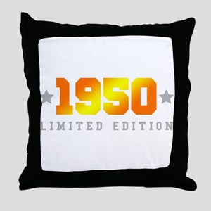 Limited Edition 1950 Birthday Throw Pillow