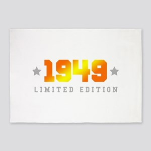 Limited Edition 1949 Birthday 5'x7'Area Rug